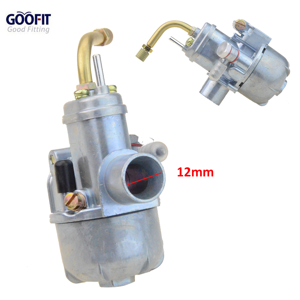 GOOFIT 12mm Carburetor Puch Moped Bing Style Carb Stock Maxi Sport Luxe Newport Cobra Carburettor N090-112