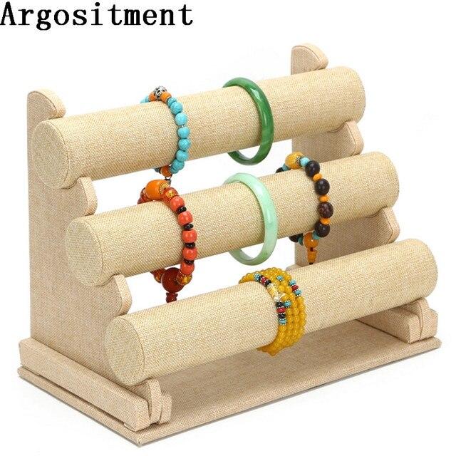 Argositment 3 Tier Bracelet Chain Watch T bar Rack Jewelry Hard