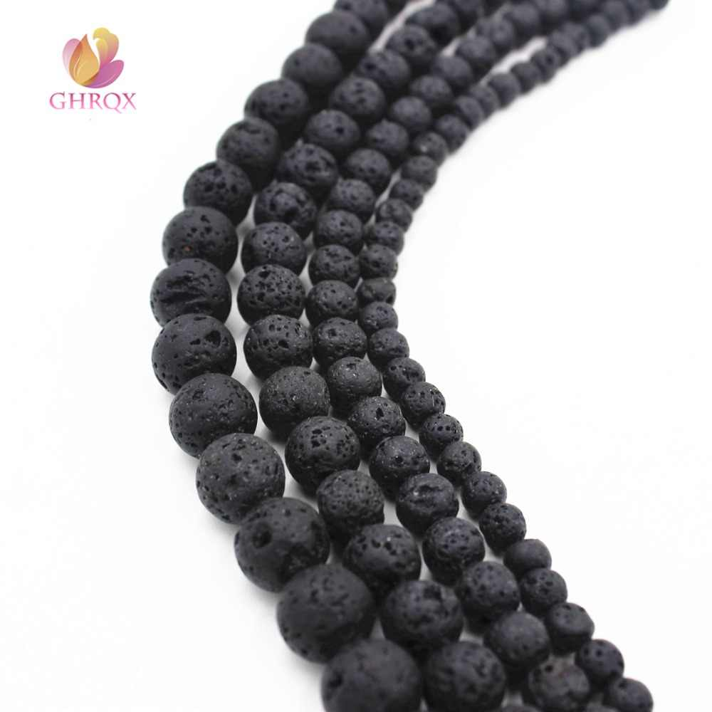 Natural volcanic rocks  Loose  Beads  4/6/8/10/12 mm stone Beads Fit Jewelry DIY making