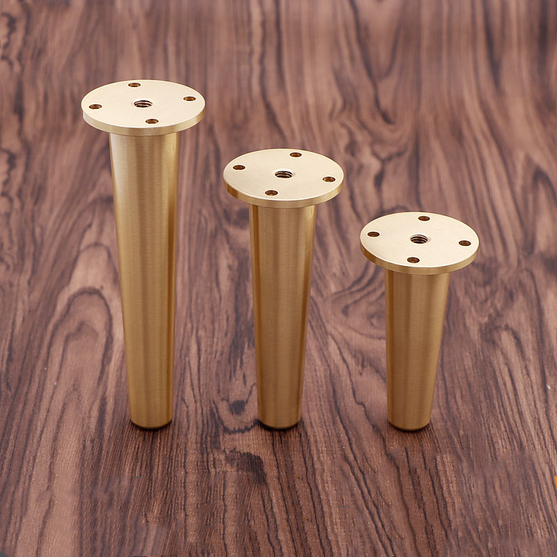 1 Piece Solid Brass Leg Sofa Feet Metal TV Cabinet Holder Cupboard Gold Furniture Legs Free Shipping