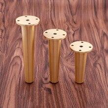 1 Piece Solid Messing Bein Sofa Füße Metall TV Schrank Halter Schrank Gold Möbel Beine Kostenloser Versand