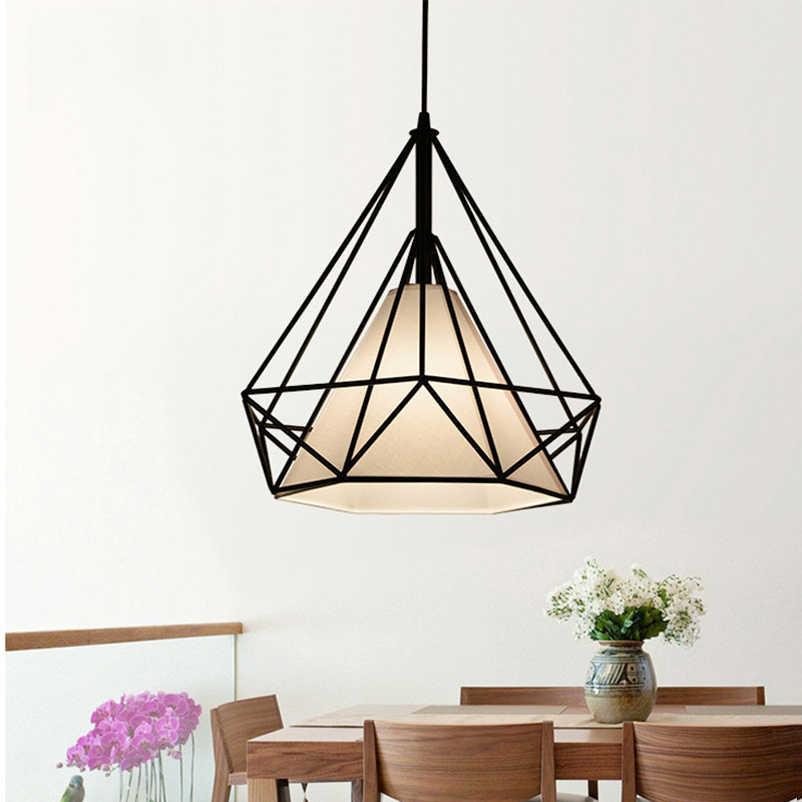 Птичья клетка Подвесная лампа ретро железный подвесной светильник регулируемый для гостиной коридор столовая Кафе Люстра светильник