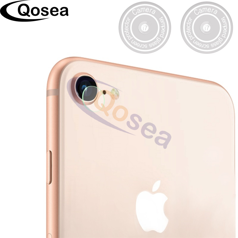 Qosea For iPhone 8 Camera Lens Film Screen Protector 9H Ultra Clear For iPhoneX X 8 Plus Phone Lens phone Lens Tempered Glass