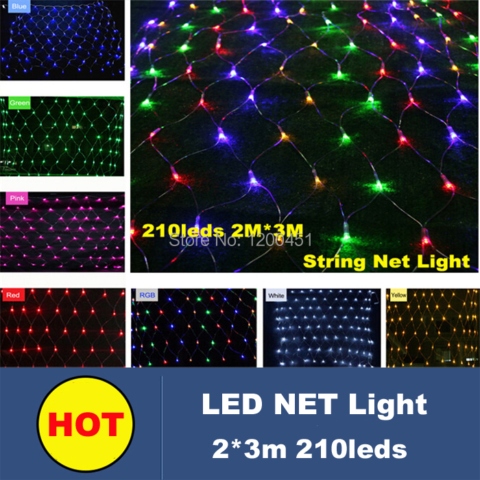 Outdoor net christmas lights 23m 210 led christmas tree lights outdoor net christmas lights 23m 210 led christmas tree lights garland fairy lights luminarias home decoration in holiday lighting from lights lighting mozeypictures Images