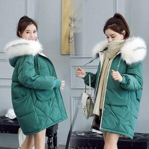 Image 4 - 2020 di pelliccia Con Cappuccio Parka casaco feminino femminile Cappotto del rivestimento più il formato giacca invernale donne casual Imbottiture Lunga In Cotone Imbottito Parka