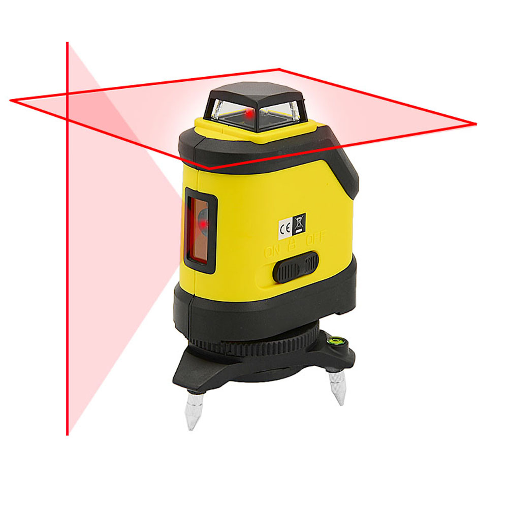 Firecore F190R 5 Lines Laser Level 4 Degrees Self- Leveling Horizontal And Vertical Cross Red Laser Beam Measuring Tools firecore a8846 mini 4 lines 360 degrees red laser level auto self levelling in the range of 3 degrees
