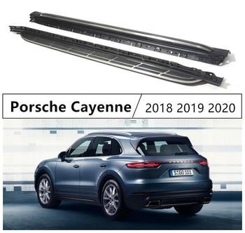 Für Porsche Cayenne 2018 2019 Trittbretter Seite Schritt Bar Pedale Hohe Qualität Marke Neue Auto Nerf Bars Auto Zubehör