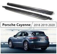 Para porsche cayenne 2018 2019 placas de corrida barra passo lateral pedais alta qualidade brandnew carro nerf bares acessórios automóveis|Barras e estribos| |  -