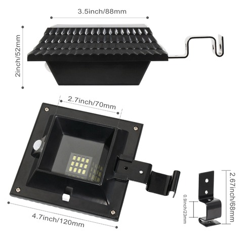 t sun 4 pacote 12 led sensor