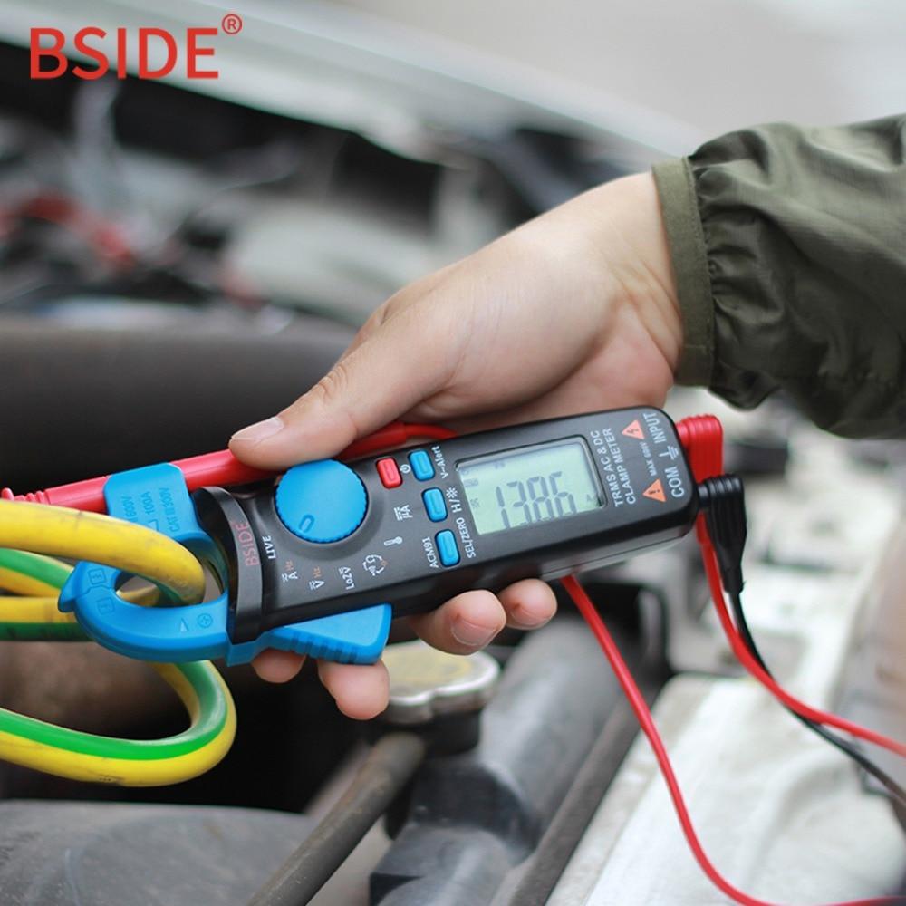 BSIDE ACM91 Mini Numérique pince mètre DC/AC Courant 100A Précis 1mA Multimètre Profession De Réparation De Voiture Ampèremètre Voltmètre Testeur