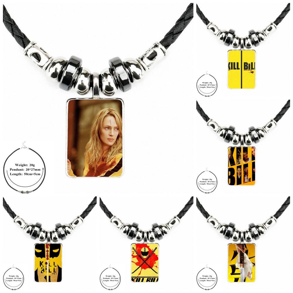 Kill bill Vintage Black Leather Necklace