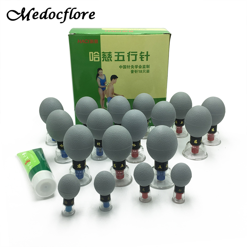 8/12/18 pcs Acupressure Suction Cupping Set Therapy -Chinese Medicine Massage Acupuncture magnetic therapy set Vacuum Cupping 6 magnets point therapy cupping pratical 12 body cupping set chinese medicine home device m01018