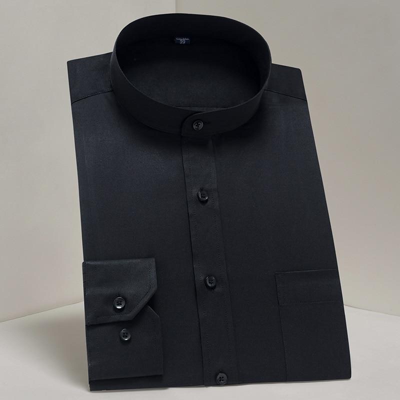 New classic mandarin collar long sleeved mens dress shirts Men's Polo Shirts