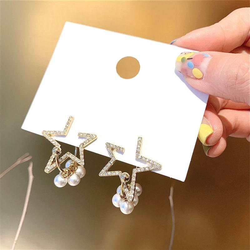 Korean Pearl Star Earrings For Women 2019 New Delicate Oorbellen Trendy Jewelry Wholesale