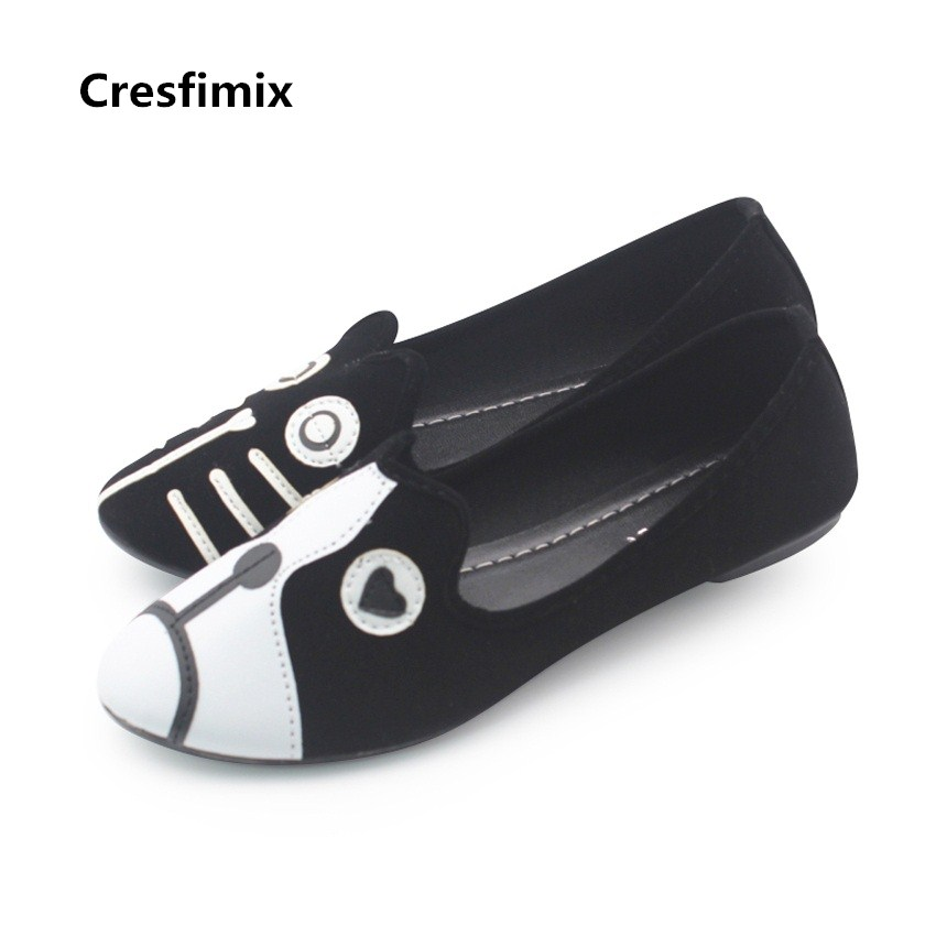 Cresfimix female cool animal shape dog and cat shoes cute womens casual flat shoes lady and teenager girl street flat shoesCresfimix female cool animal shape dog and cat shoes cute womens casual flat shoes lady and teenager girl street flat shoes