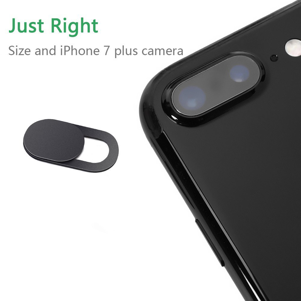 Image 3 - 3 Pack Black Aluminum Alloy Webcam Cover Camera Privacy Sticker for Phone Laptop Tablet T1-in Webcams from Computer & Office