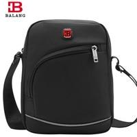 2017 New BALANG Brand Designer Men Business Messenger Bags Black Waterproof Oxford Casual Male Cross Body