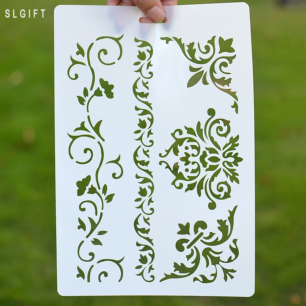 Clock Design Crafts Layering Stencil for Painting Scrapbooking Embossing Gift Pa