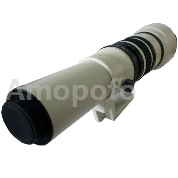 Amopofo,500mm F6.3-32 Telephoto Lens For Canon EOSM M1 M2 M3 M4 M5 M6 Cameras amopofo 500mm f6 3 32 telephoto lens for pentax k10d k20d k7 k5 kr km kx k30 k50 camera