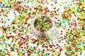 Xmas-279 Holográfica Láser Mixta Colores Stars Forma 3.0 MM Tamaño Cequis Del Brillo para el arte de uñas de gel y DIY decoración de Navidad