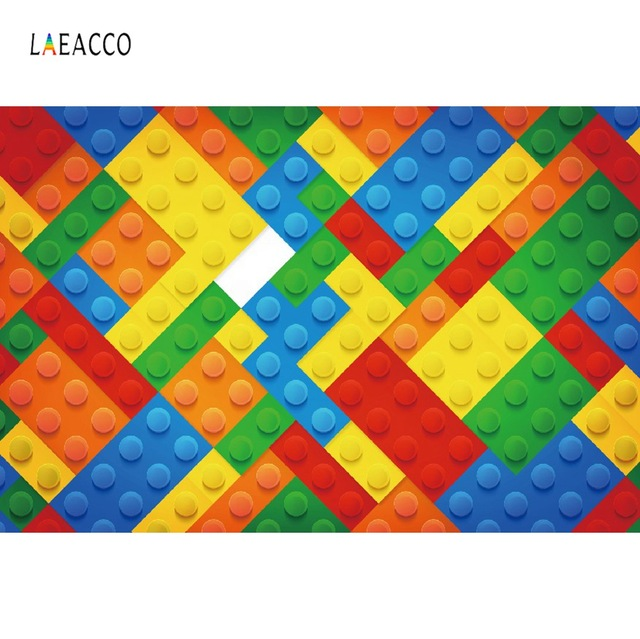 Laeacco Baby Toy Bricks Colorful Happy Birthday Party Child Portrait Photographic Backgrounds Photography Backdrops Photo Studio