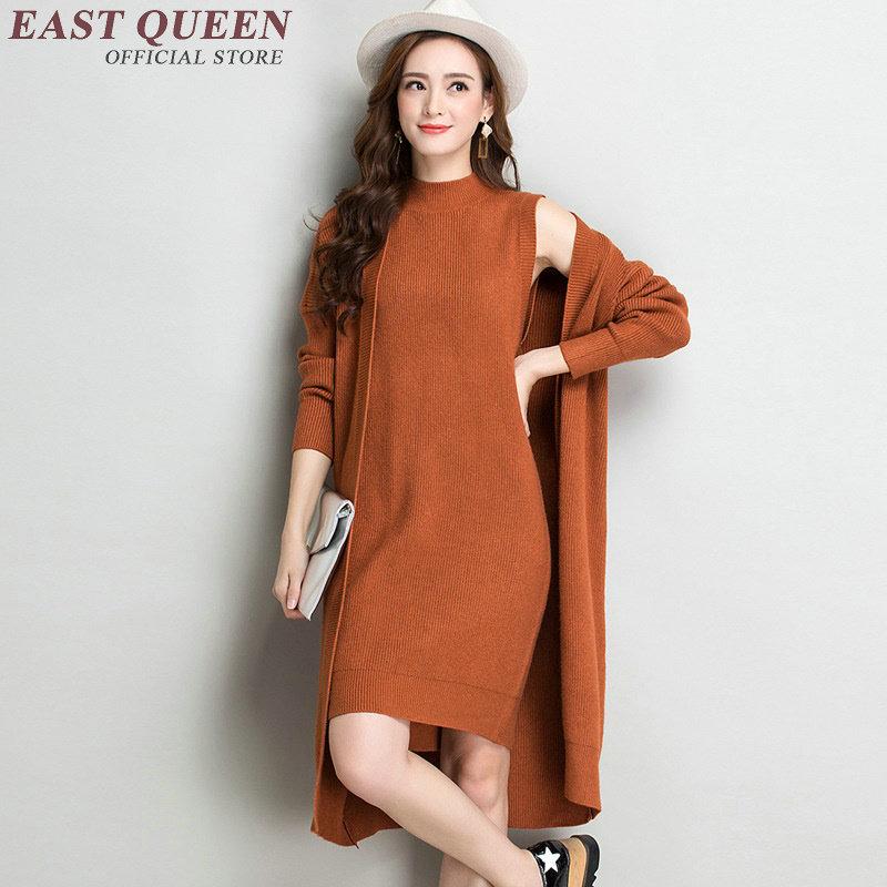 Femme Hiver Dd120 Mode Noël Robes Pull Tricoté Robe Chaud Automnes De 1 4 2 2018 Dames Longue 3 5 Jumper 5wfEqzR