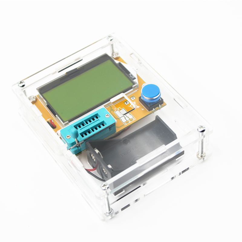LCR-T4 Mega328 M328 Multimetr Transistor Tester ESR medidor de triodo capacitancia ESR Metro MOS PNP, NPN LCR + (no de la batería)