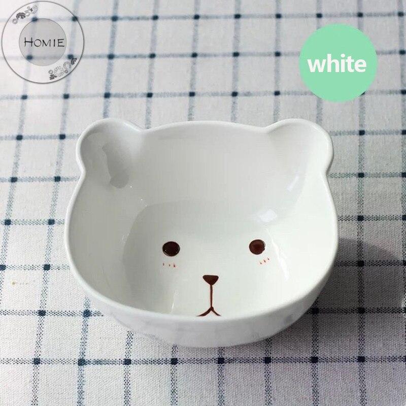 Creative Cartoon Cute Ceramic Breakfast Plate Beef Dishes Dessert Dish Fruit Snack Plate Simple Creative Animal Dish Salad Bowl