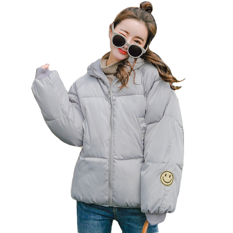 96483a4d51ae7 Oversize 2018 New Fashion Women Winter Jacket Hooded Cotton Padded Warm  Female Coat Winter Womens Short Parka Casaco Feminino