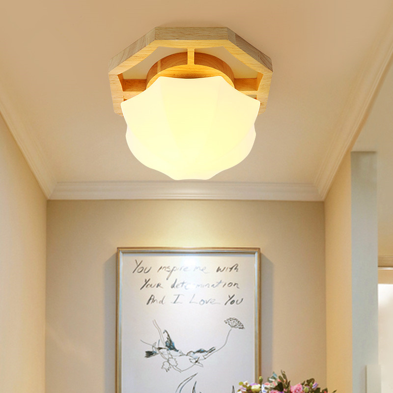 Dia25cm/33cm/42cm Nordic Solid Wood Ceiling Lamp LED Wood Bathroom Balcony Aisle Ceiling Light FixtureDia25cm/33cm/42cm Nordic Solid Wood Ceiling Lamp LED Wood Bathroom Balcony Aisle Ceiling Light Fixture