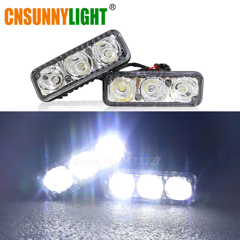 Image 5 - CNSUNNYLIGHT Waterproof Car High Power Aluminum LED Daytime Running Lights with Lens DC 12V Super White 6000K DRL Fog Lamps-in Car Light Assembly from Automobiles & Motorcycles