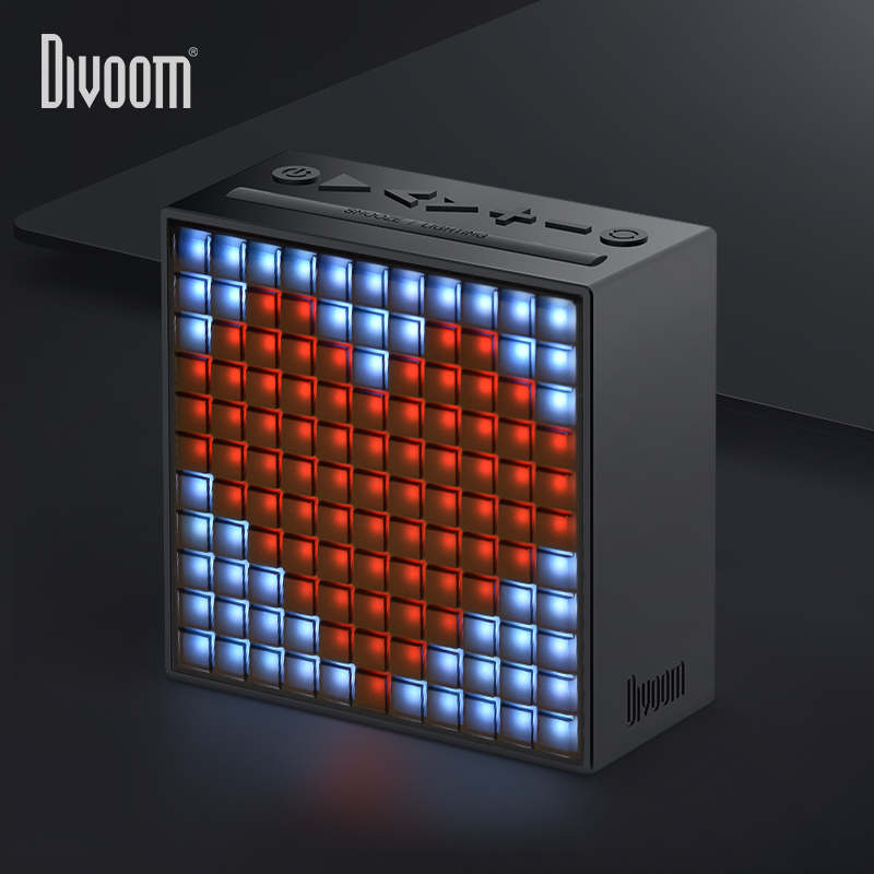Divoom Timebox Bluetooth 4.0 Smart alarm clock and portable speaker with FM radio compatible with IOS Android xiaomi