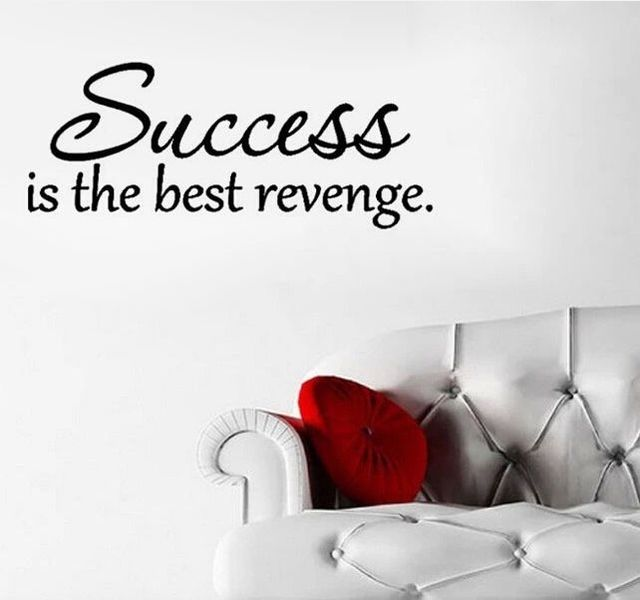 Success Is The Best Revenge Wall Sticker Quote For Decoration Home