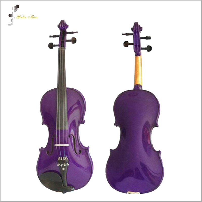 Purple Violin 1/4 3/4 4/4 1/2 1/8 Size Available Violin in Full Set (Bow, Rosin and Case) Colorful Violins Many Colors Available beautiful blue violin 4 4 1 4 3 4 1 2 1 8 size available violin full set with bow rosin bridge case colorful violins available