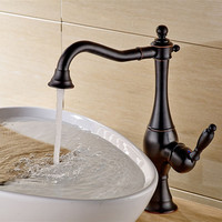 Black Bronze Kitchen Faucet 360 Ronating Antique Blackend Sink Tap Cold And Hot Kitchen Mixer Tap