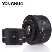 Объектив YONGNUO YN50mm f1.8 YN EF 50 мм f/1,8 AF объектив YN50 апертура Автофокус Объектив для Canon EOS 60D 70D 5D2 5D3 600d DSLR камеры
