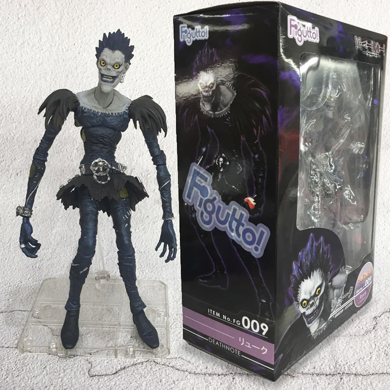 Free Shipping 8 Death Note Anime Ryuuku Ryuk Figma 009 Moveable Boxed 20m PVC Action Figure Collection Model Doll Toys Gift free shipping cool 6 kan colle anime kantai collection mutsu figma boxed 15cm pvc action figure model doll toy gift figma 242