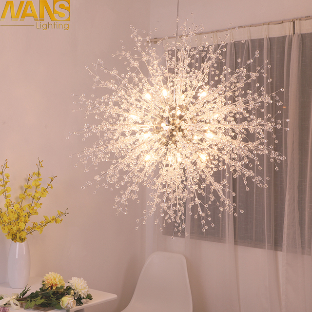 NANS Modern G4 LED chandelier acrylic lights lamp for dinning room ...
