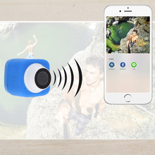 8MP Full HD Mini Digital Sports WIFI DV Action Waterproof 140 Camera Blue For IOS&Android&Gropro New Selfie/Digital/Car Camera