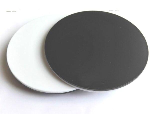 100mm Base do Microscópio Estéreo Preto e Branco Placa de Carregamento  Specimen Palco Placa De Plástico c8d0d68b25574
