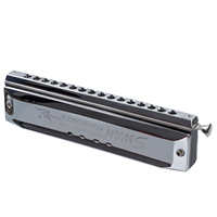 HOT Chromatic Harmonica Silver Tone 16 Hole 64 Mouth Music Instruments