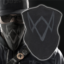 Black WATCH Dogs 2 Máscara Máscara Cosplay algodão Rib tecidos Marcus do Holloway