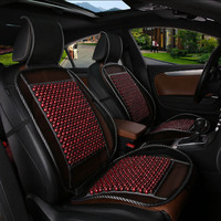 New cool breathable massage car seat cover protective cover car wood beads cool summer interior auto parts