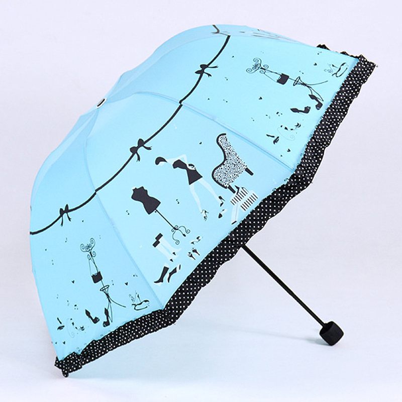 DOENR Compact Travel Umbrella Firework Sun and Rain Auto Open Close Umbrellas Lightweight Portable Outdoor Folding Umbrella