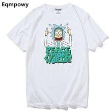 Eqmpowy Rick and morty geek T shirt men women TV tee anime funny t-shirt Cool Rick Morty men Summer Anime B T-shirts