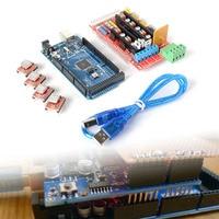 Mega 2560 R3 1pcs RAMPS 1 4 Controller 4pcs A4988 Stepper Driver Module For 3D Printer