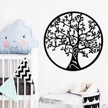 Luxuriant Tree Wall Sticker Removable Self Adhesive Watercolo Nursery Kids Room Decor Mural