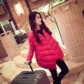 Новая мода беременных женщин плюс размер высокое качество зима вниз пальто Твердые хлопок пиджаки куртка материнства материнства теплые пальто