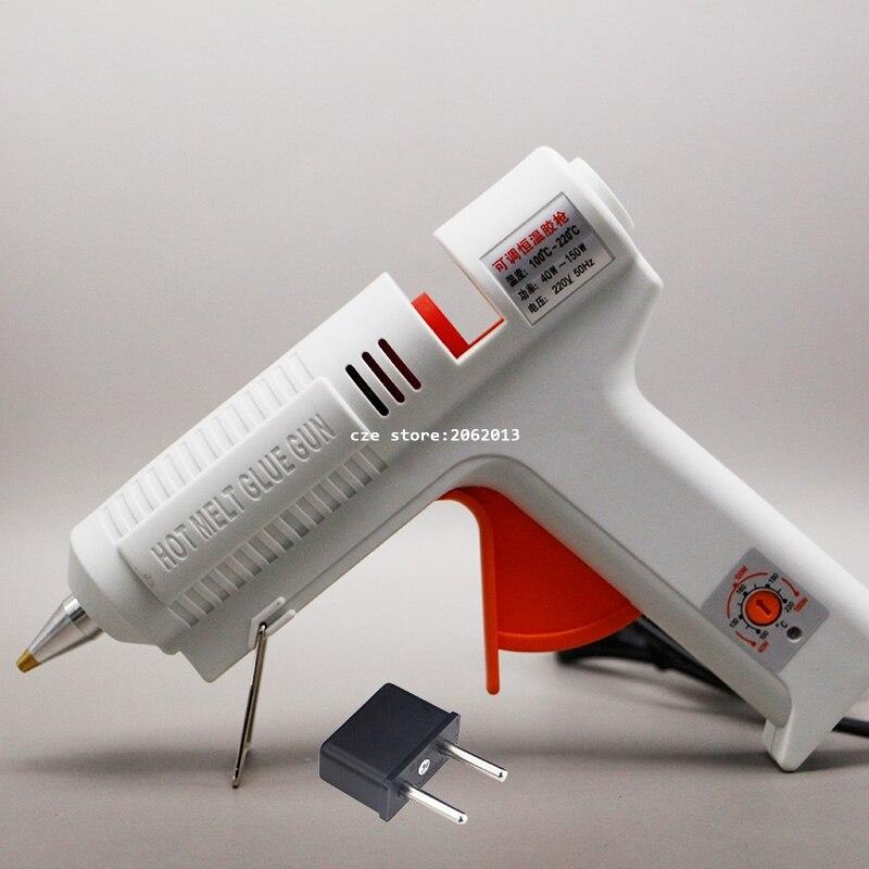 Il trasporto Libero 220 v 40-150 w Hot Melt Glue Gun Temperatura Regolabile Kit di Riparazione Strumenti