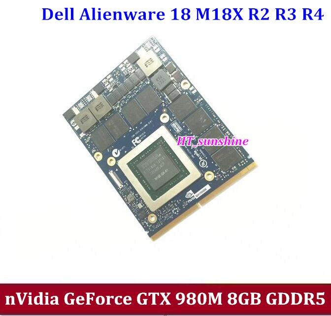 NEW for Dell Alienware 18 M18X R2 R3 R4 18 Inch Laptop nVidia GeForce GTX 980M Sli GPU 8GB GDDR5 Graphics Card N16E-GX-A1 high quality castle pattern window shape 3d removeable wall sticker